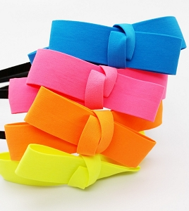 Neon Ribbon Bow Headband