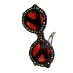 Sunglasses Crystal Clip - Peacock