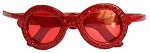 Sunglasses Crystal Headband - Red