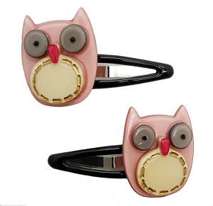 Owl Snap Clip - Indian Pink