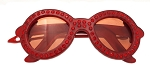 Sunglasses Crystal Clip - Red