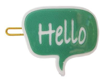 Bubble Talk Hello Hairpin