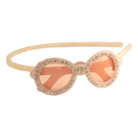Sunglasses Crystal Headband - Ivory